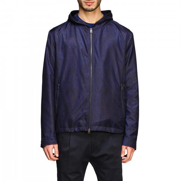 Etro nylon bomber jacket with Paesley print