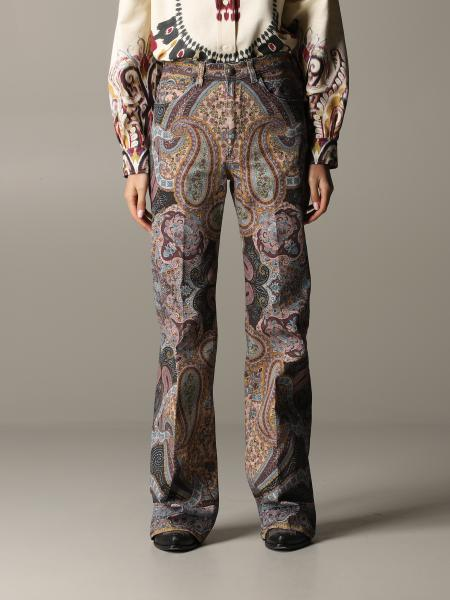 Pantalone Drill Etro con stampa paisley