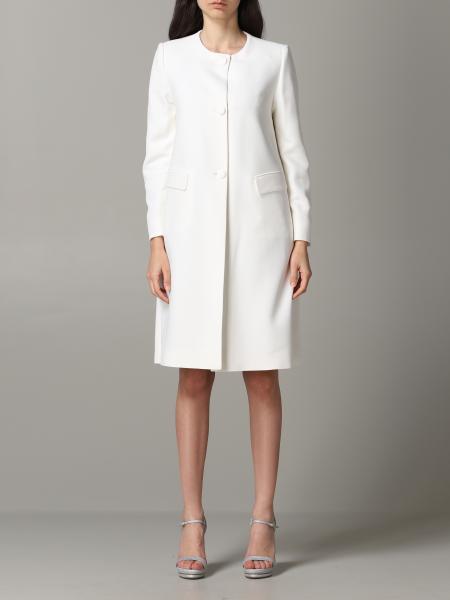 Emporio Armani crepe crewneck coat