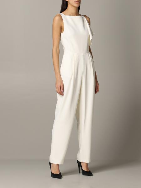 Emporio Armani suit in cady and satin