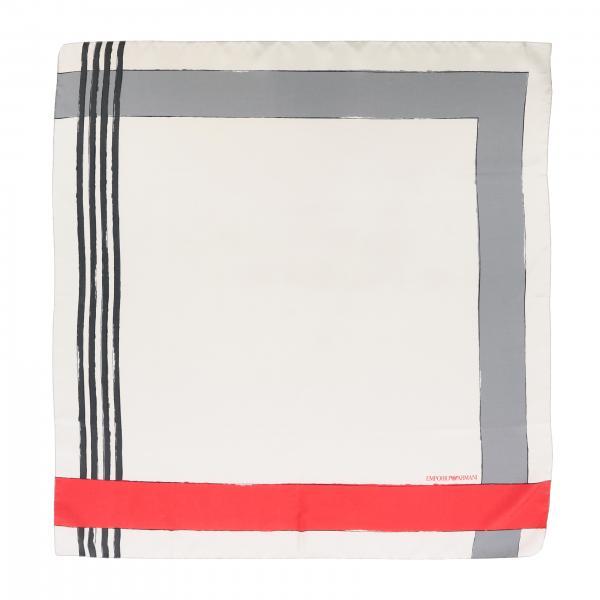 Emporio Armani silk scarf with geometric print