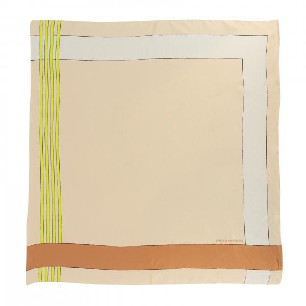 Foulard en soie Emporio Armani avec imprimé géométrique