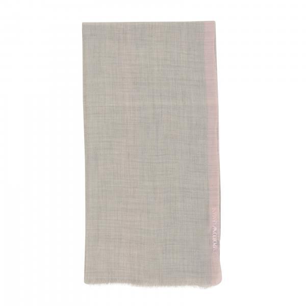 Emporio Armani two-tone cashmere scarf