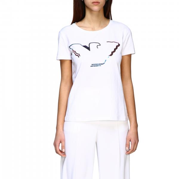 Emporio Armani short-sleeved T-shirt with sequin logo