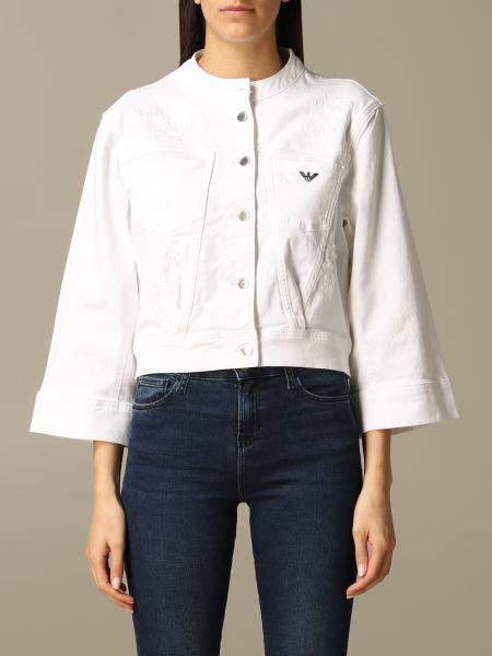 Veste en jean Emporio Armani avec logo