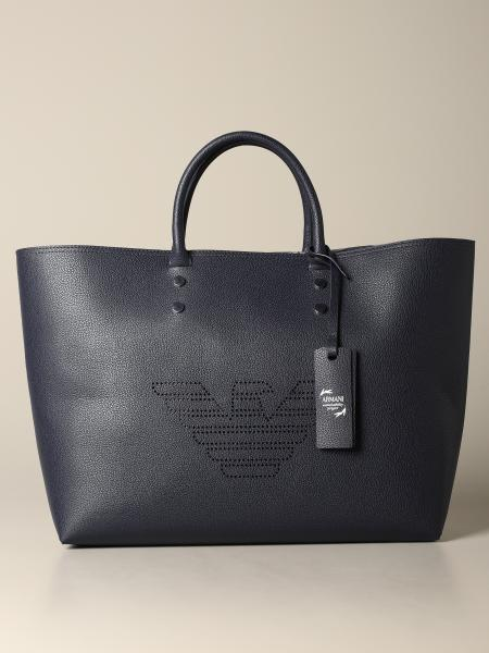 Emporio Armani shopping bag with perforated logo