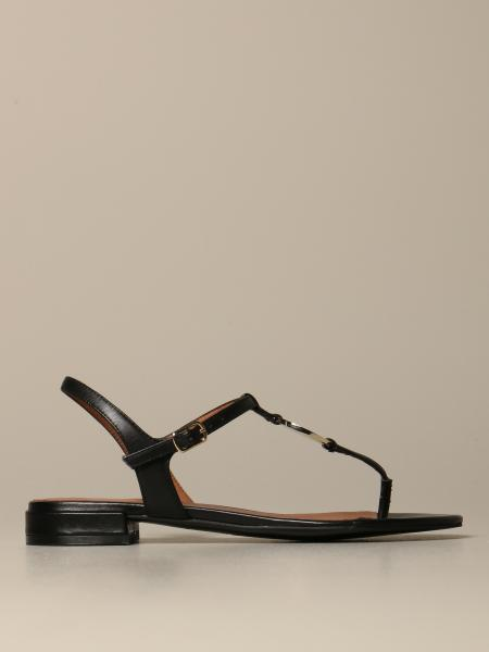 Emporio Armani leather sandal with plaque