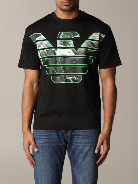 T-shirt Emporio Armani con big logo a fantasia