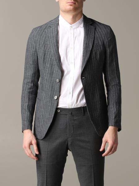 Blazer emporio armani jacket in pinstriped linen Emporio Armani - Giglio.com
