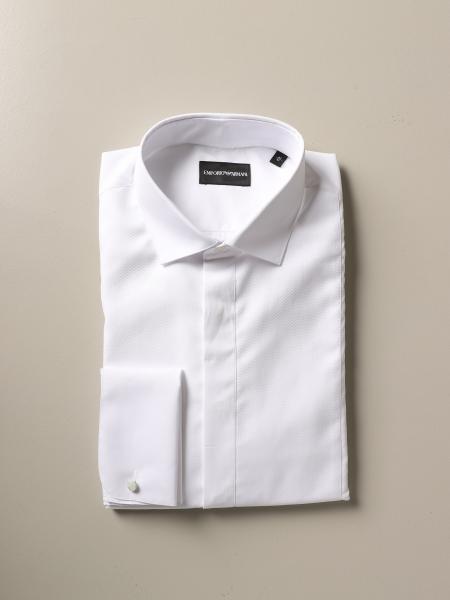 Emporio Armani shirt with Italian collar in cotton