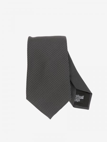 Cravatta Emporio Armani in seta a micro fantasia