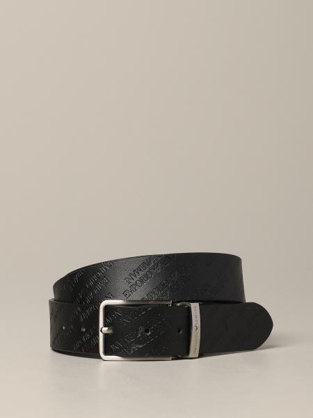 Cintura Emporio Armani in pelle stampata e reversibile