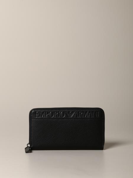Portefeuille zippé Emporio Armani avec logo