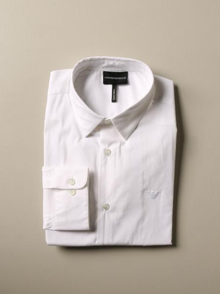 Emporio Armani Hemd aus Stretch-Popeline