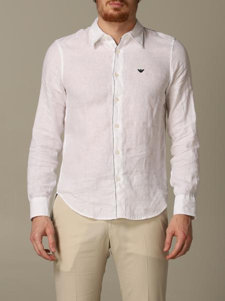 Emporio Armani 标准领亚麻衬衫