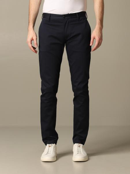 Emporio Armani 弹性棉修身裤子