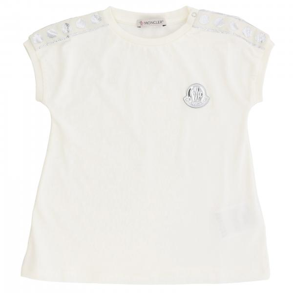 Moncler short-sleeved T-shirt with bands and logo