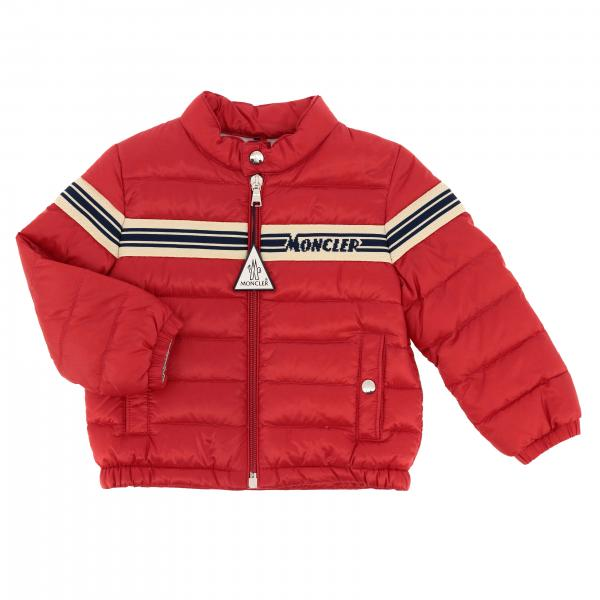 Haraiki Moncler down jacket with striped band and logo