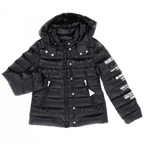Tulipe down jacket with hood and Moncler prints