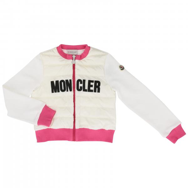 Moncler bomber jacket with maxi logo and contrasting edges