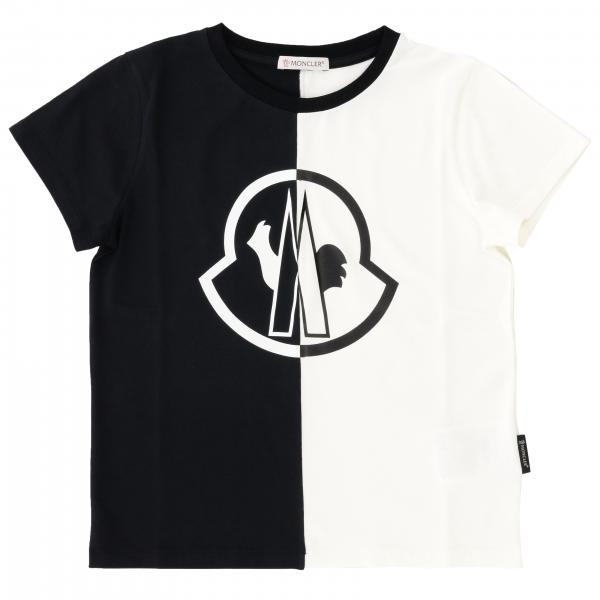 Short-sleeved Moncler T-shirt with two-tone big logo
