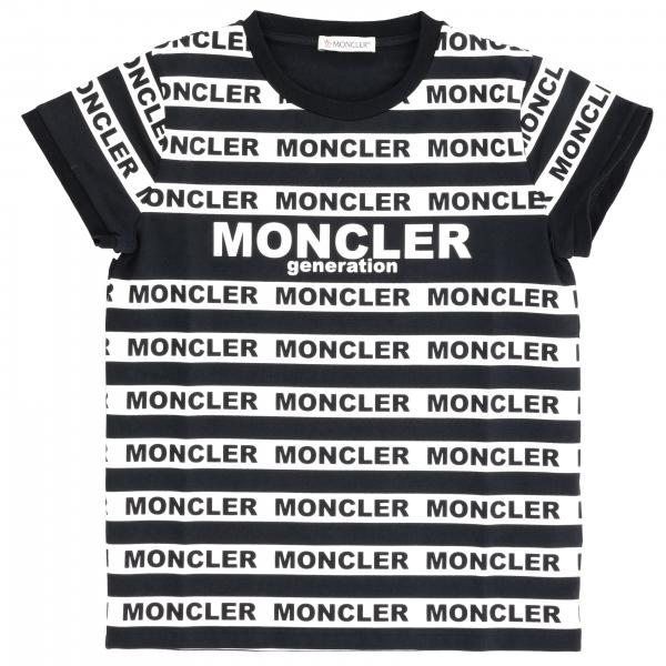 Moncler T-Shirt mit Logo all over