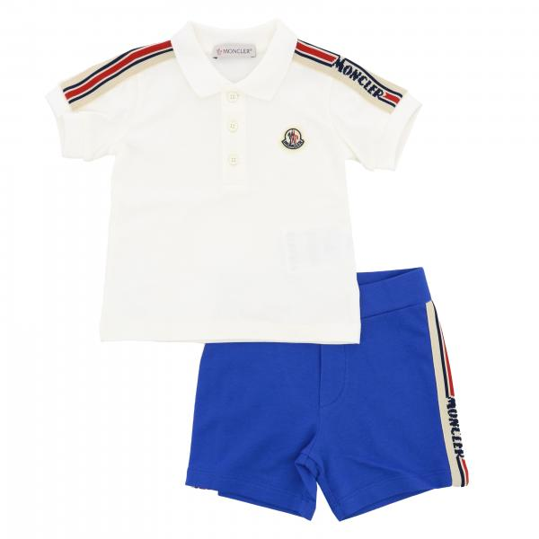 Moncler Polo set + shorts with logo and side bands outfit
