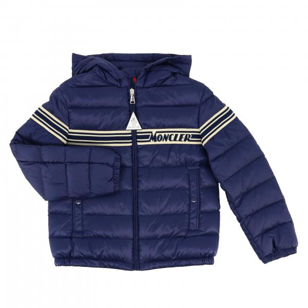Renald Moncler quilted nylon down jacket with zip
