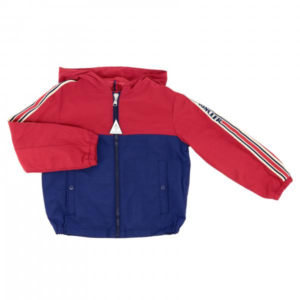 Moncler Gittaz nylon jacket with striped bands and logo