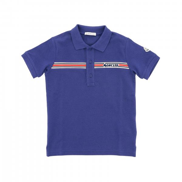 Short-sleeved Moncler polo shirt with Moncler logo