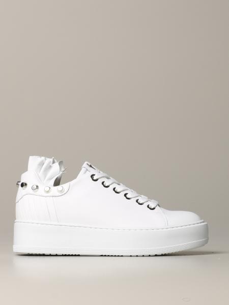 Sneakers Paciotti 4US in pelle con borchie