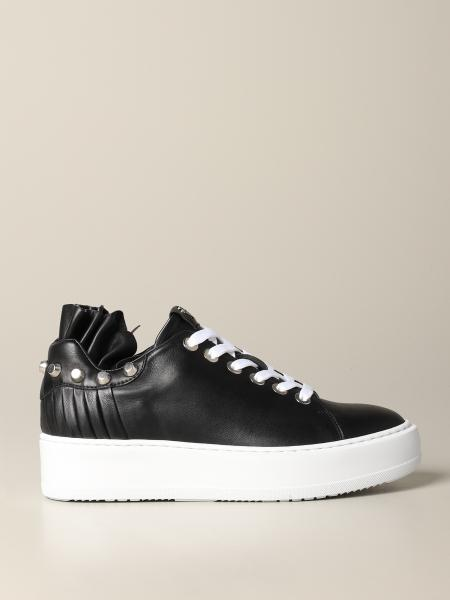 Sneakers Paciotti 4US in pelle con borchie