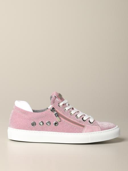 Sneakers Paciotti 4US glitter con zip