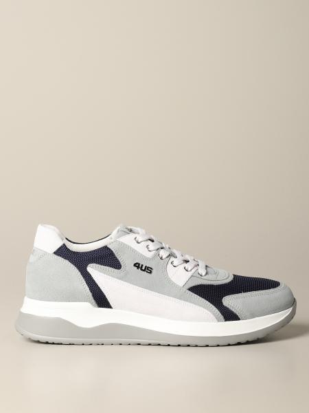 Sneakers Cricket Paciotti 4US in micro rete e camoscio bicolor