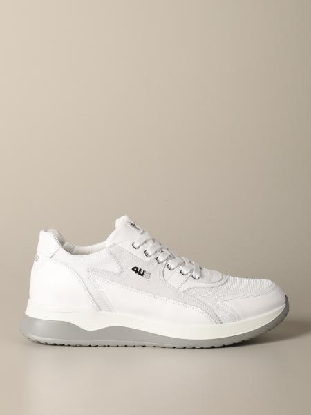Sneakers Cricket Paciotti 4US in camoscio pelle e micro rete