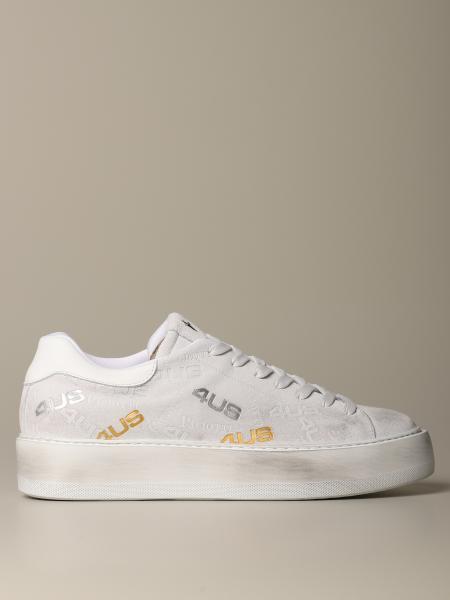 Sneakers Ramones alta in camoscio logato