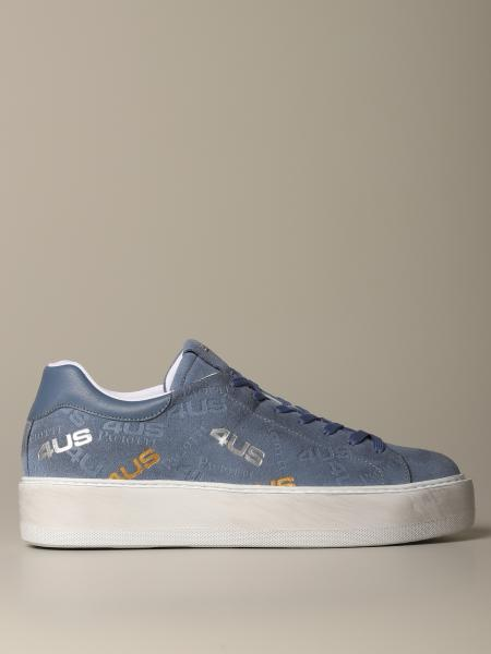 Sneakers Ramones Paciotti 4us in camoscio logato