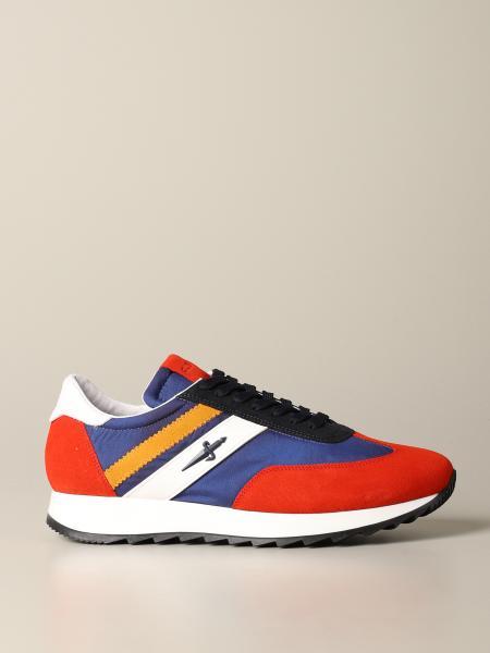Sneakers Johnni Paciotti 4US in camoscio e tela con contrasti