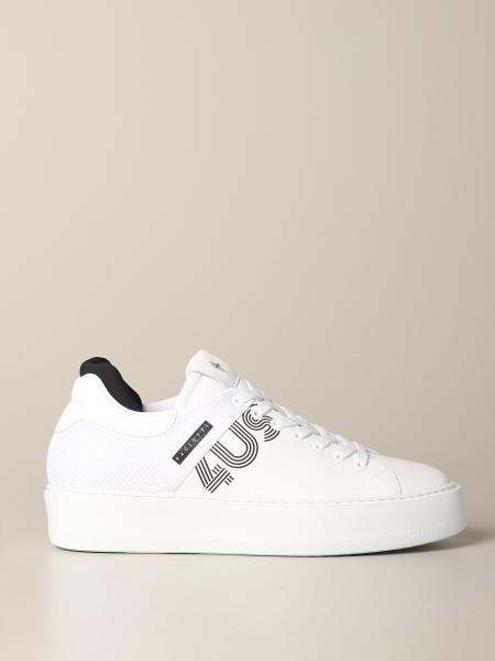 Sneakers Star Paciotti 4US in pelle e tessuto con logo