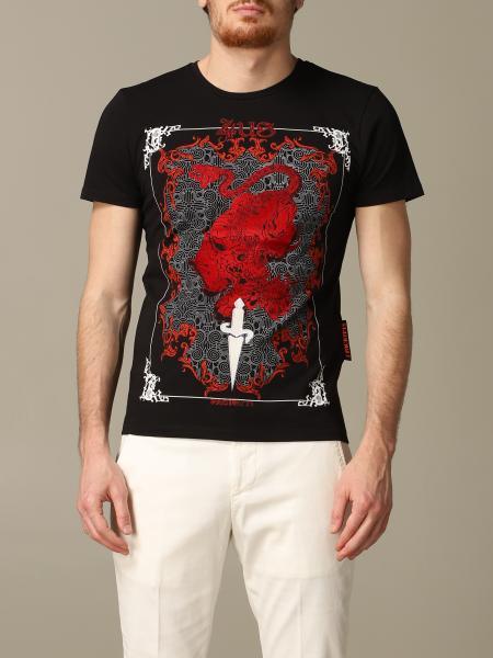 T-shirt Paciotti 4US con logo dragone flock