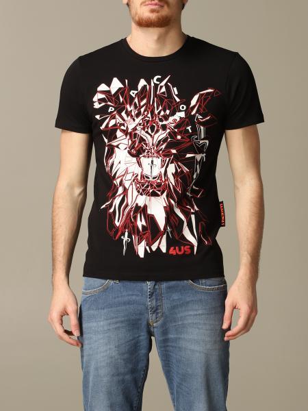 T-shirt Paciotti 4US con stampa astratta