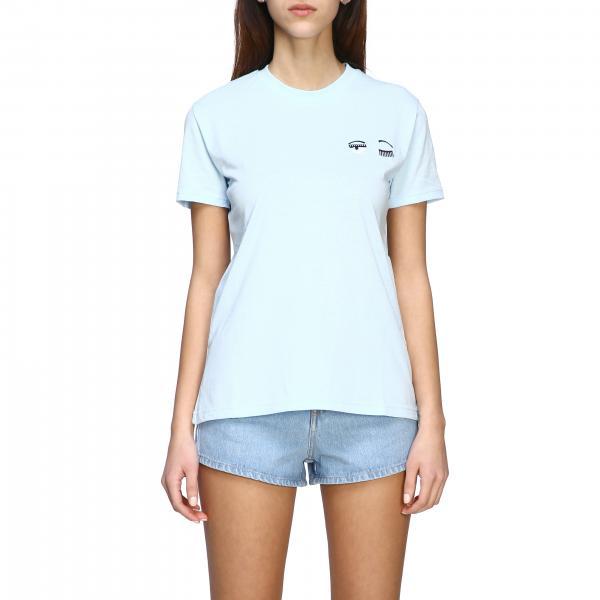 T-shirt Chiara Ferragni a maniche corte con ricamo flirting