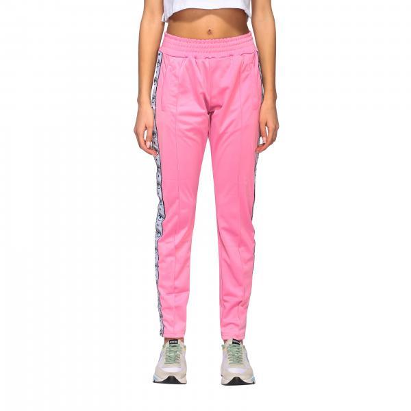 Pantalone Chiara Ferragni jogging in acetato con logo