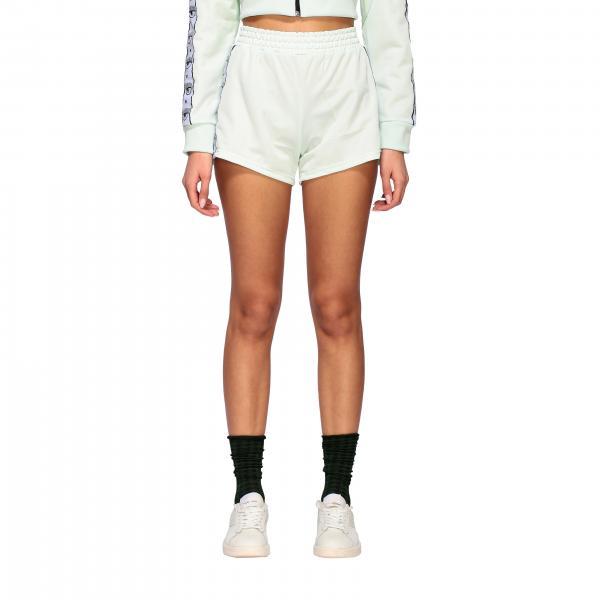 Shorts Chiara Ferragni in acetato con bande logate