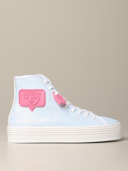 Sneakers Chiara Ferragni glitter con patch i like