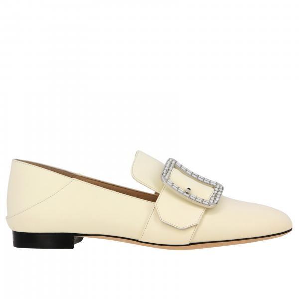 Janelle cristal Bally leather loafer with buckle