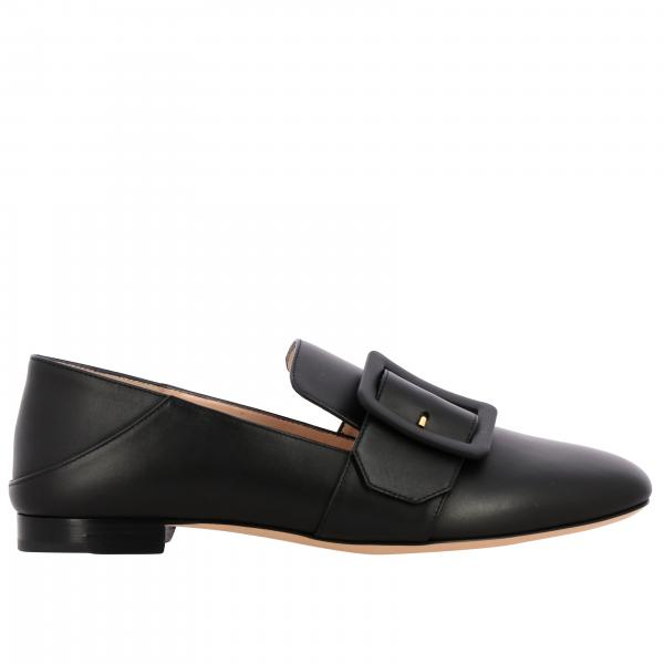 Janelle tonal Bally leather loafer with buckle