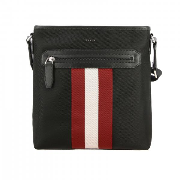 Currios.tsp Bally bag in canvas and leather with striped band