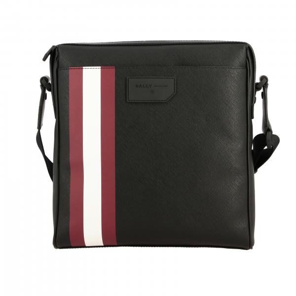 Bally Skill.of bag in saffiano leather with striped band