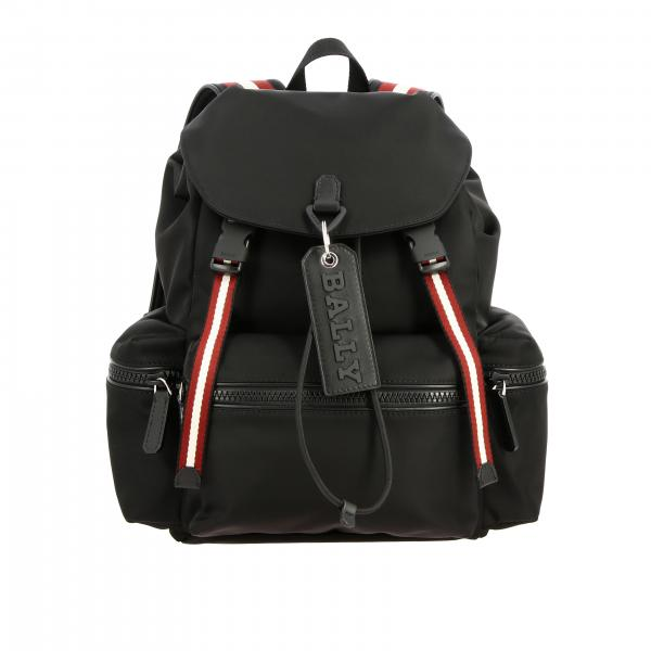 Crew.sm.t Bally backpack in nylon with contrasts